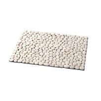 - Tapis cailloux blanc