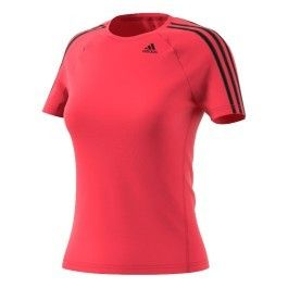 Adidas T shirt D2M 3S manches courtes rose femme pas