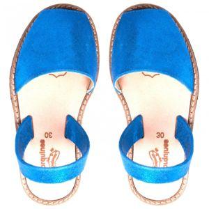 Sandales enfant bleu irisé Minorquines - Bleu - 24 cCIPIr