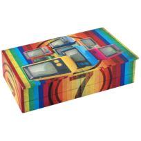 Signee - Boite rectangulaire en bois Tv colors