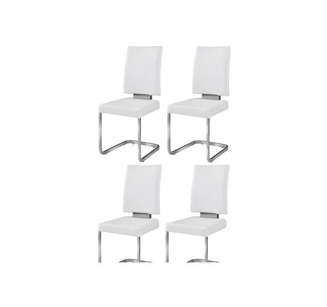 CHLOE DESIGN Chaise design Preston - Par 4 - Blanc