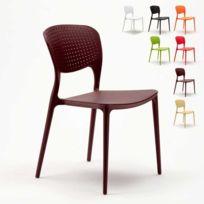 Ahd Amazing Home Design - Chaise salle à manger bar café polypropy