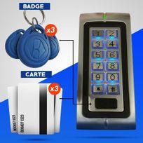 EMATRONIC - Digicode lecteur de proximité 3 badges et 3 cartes