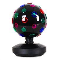 ONECONCEPT - Boule disco 8-B effet de lumière LED noire 20cm