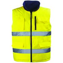 EURO PROTECTION - Gilet réversible Jaune fluo HIWAY EUROPROTECTION-7HWGY