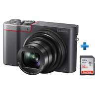 PANASONIC - Pack appareil photo compact expert TZ100 silver + carte 16Go