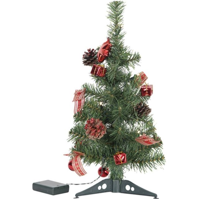 STAR Sapin LED de 45cm décoration rouge