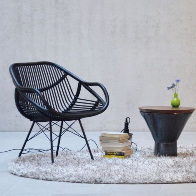 Jan Kurtz Fauteuil lounge Yara - wengé