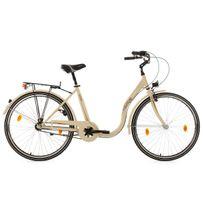 Ks Cycling - Vélo de ville dame enjambement bas 28'' Sahara beige Tc 48 cm
