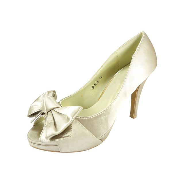 383afa2be8a715 Chaussmaro - Chaussures mariage satin ouvertes - pas cher Achat ...