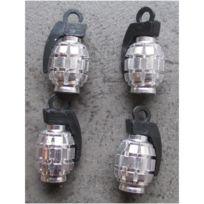 Universel - bouchon valve de roue x4, grenade chrome auto moto velo 6c91696be31