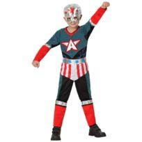 Atosa - 16455 - Costume - DÉGUISEMENT Super HÉRO GarÇON - Taille 2