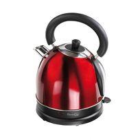 Domoclip - Bouilloire 1800W sans fil rouge style rétro finition inox - Capacité 1.8L - Dod111R