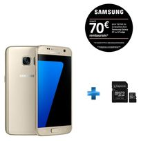 Galaxy S7 Or SGH-GALAXY-S7-OR + KINGSTON 32GB microSDHC Class 10 UHS-I 45MB/s Read Card + SD Adapter SDC10G2/32GB