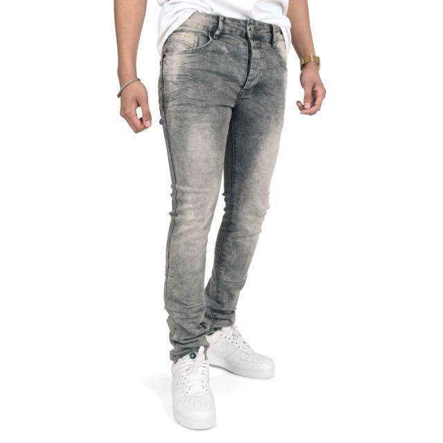 acheter en ligne ffa39 12539 Project X - Jean gris slim délavé Homme Paris, Taille: 29 ...