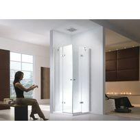 Lifestyle Proaktiv - 80x80x195cm Cabine de douche Demeter - sans bac de douche - transparent - Esg Verre