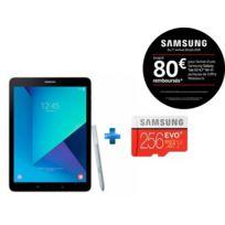 Samsung - Galaxy Tab S3 - 9,7'' - 32 Go - Argent + Carte micro SD 256 Go EVO PLUS classe 10 100Mo/s avec adaptateur SD