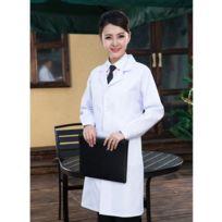 6ffb23f197dc6 Wewoo - Vêtements de travail de droguerie Docteur Manches longues Femme  Scrubs blancs, Taille