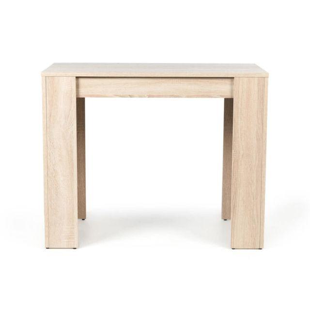 Table Console Extensible Bois.Table Console Extensible En Bois De 49 A 198cm Practica Chene