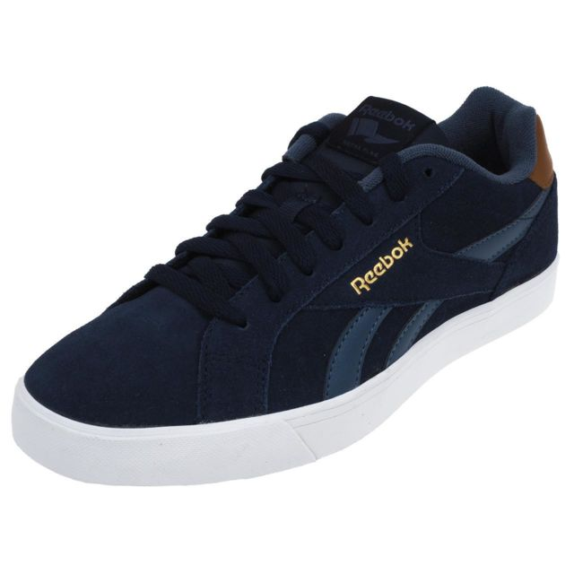 huge selection of 04cad f0c00 Reebok - Chaussures basses cuir ou synthétique Reebok Royal complete 2ls  navy Bleu 21563