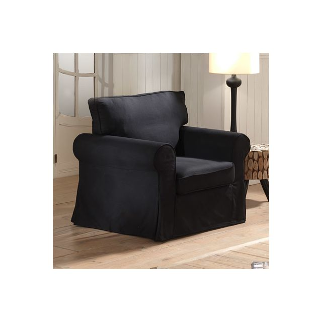 Canapé fauteuil fixes noir Jaipur