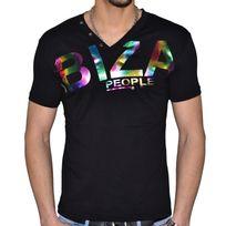 Stef Wear - T Shirt Manches Courtes - Col V - Homme - Ibiza 751 - Noir