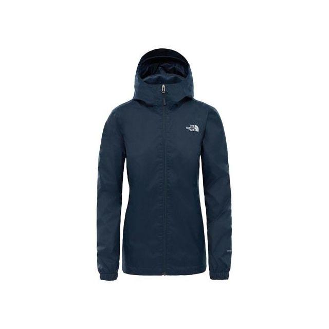 2ea751912a The north face - Veste imperméable The North Face Quest bleu foncé logo  blanc femme -