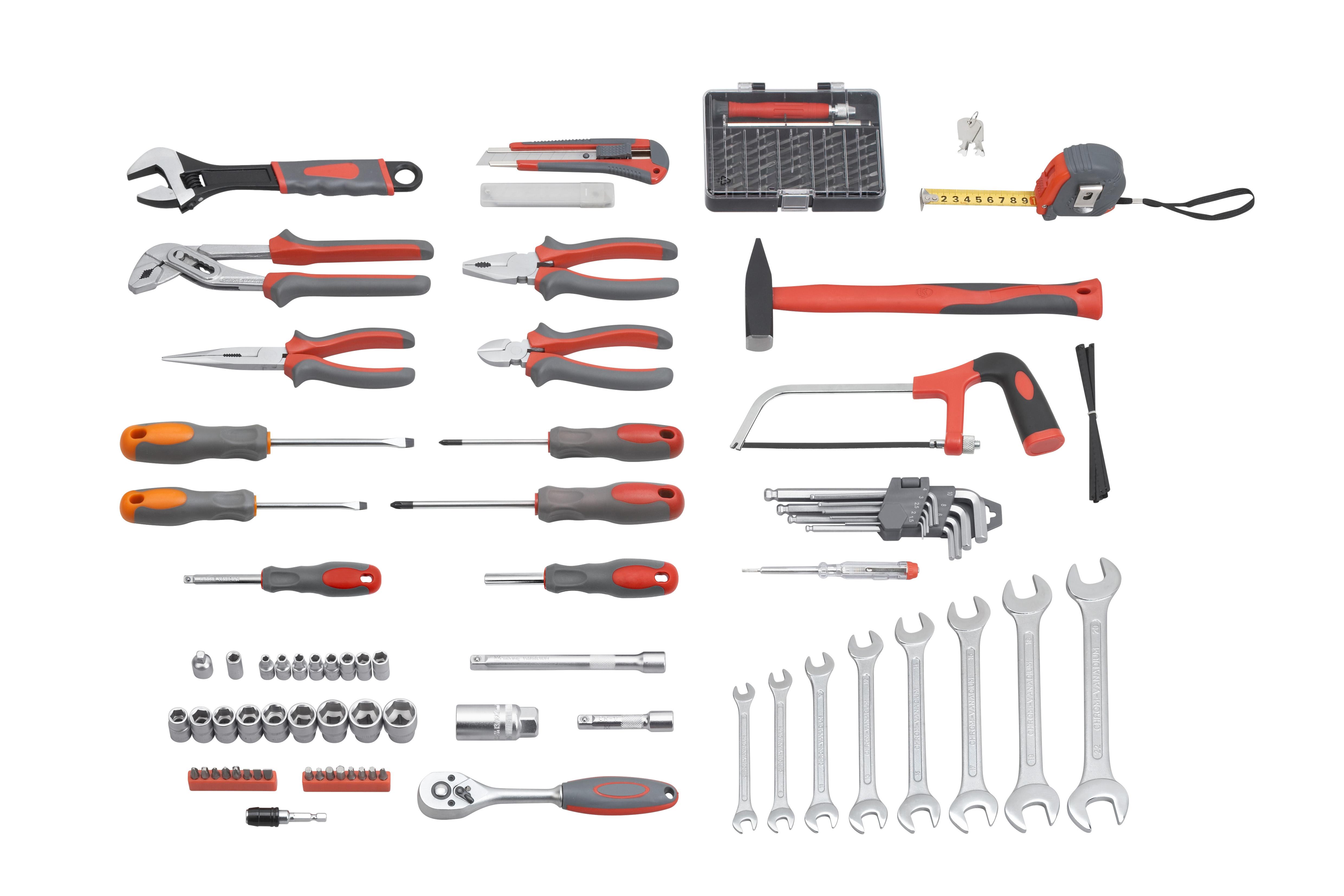 Meister coffret outils 116 pi ces 8971400 pas cher - Caisse a outils electricien complete ...