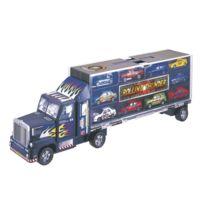 John World - Camion transporteur et 10 voitures