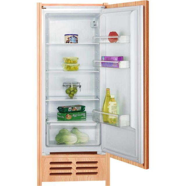 CALIFORNIA réfrigérateur 1 porte intégrable 54cm 201l a+ statique blanc - dl122bi1