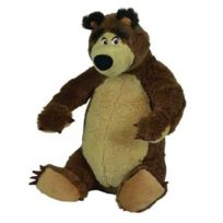 Simba - Peluche Michka : Ours Masha Assis 22 Cm - Licence