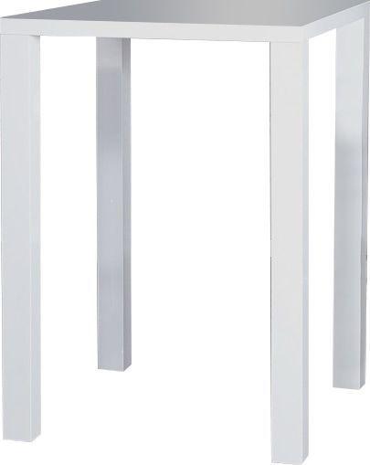 Comforium Simple table bar blanc laqué carré
