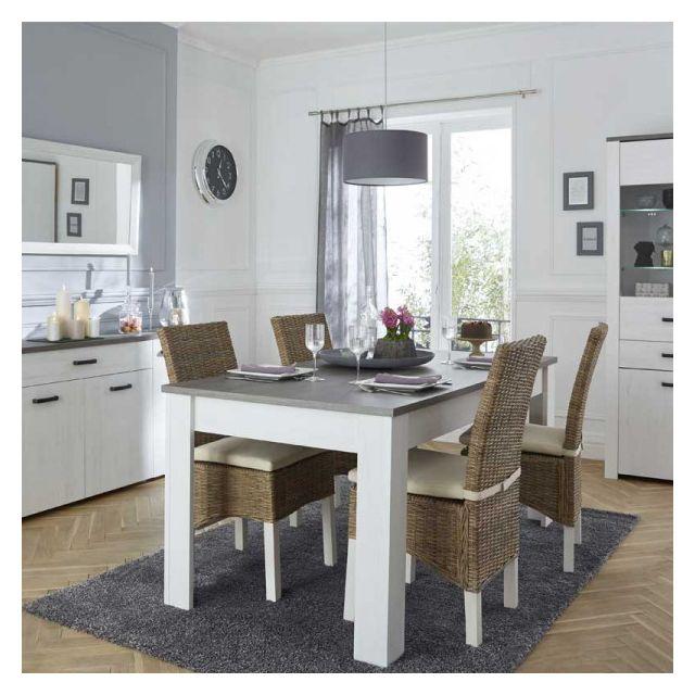 Dansmamaison Table de repas à allonge Pin/Noisette - Limoges - L 170 x l 90 x H 77 cm