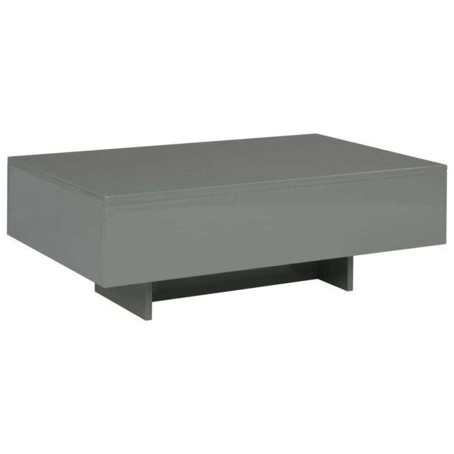 Vidaxl Table Basse Mdf Table d'Appoint Bout de Canapé Salon Salle de Séjour