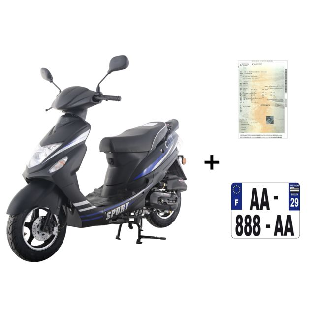 eurocka scooter cka sport 50cc 4t immatriculation achat vente scooters 50 pas cher. Black Bedroom Furniture Sets. Home Design Ideas