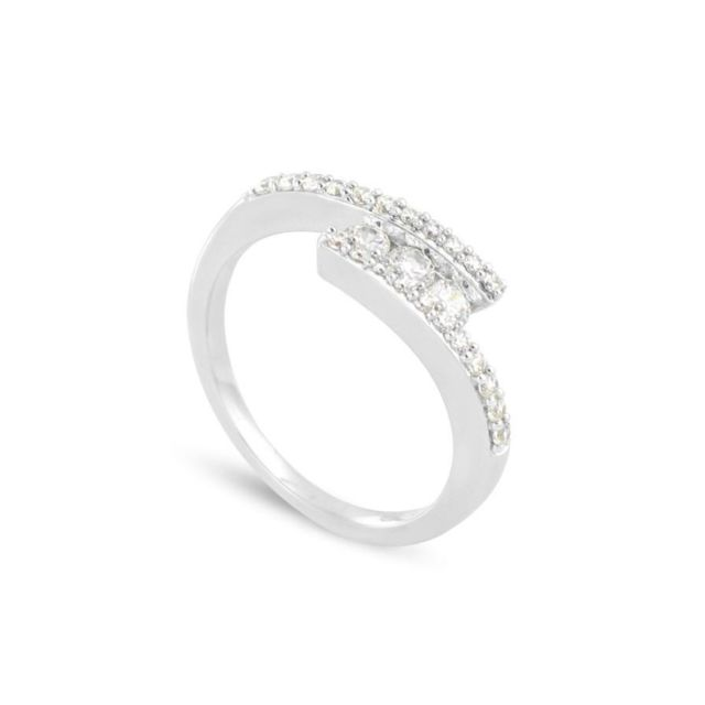 bague or blanc taille 58