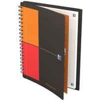 Oxford International - cahier meetingbook connect à reliure intégrale 160 pages format tablette 17,6x25 cm, 80g blanc, 5x5