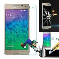 Vcomp - Lot 2 Films Vitre Verre Trempé de protection d'écran pour Samsung Galaxy Alpha Sm-g850F/ Galaxy Alfa/ Alpha S801, / G850FQ G850Y G850A G850T G850M G850W G8508S - Transparent