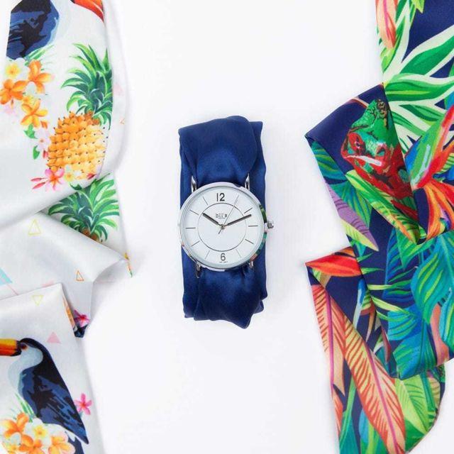 Bill'S Watch Montre Trend avec Bracelet foulard satin Tropical - Bill's watches