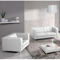 RELAXIMA - Canapé Standing : 2 places + fauteuil - Plusieurs coloris au choix