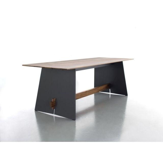 Conmoto Table Tension Wood - anthracite - Poutre en noyer