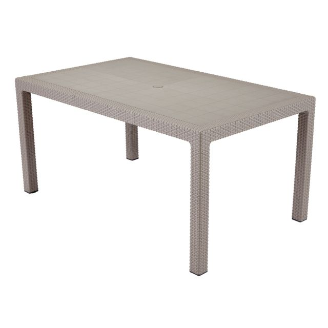 KETER ROMANTIC - Table Melody 6 personnes Cappuccino