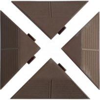 - Lot de 4 angles pour planche de terrasse