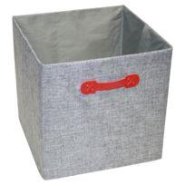 "Ordinett - Boîte Cube ""Grey"" 32 x 32 x 32 cm"