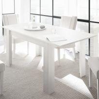 Agathe Blanc Cm Table Extensible 140 Laqué Design tQrCdshx