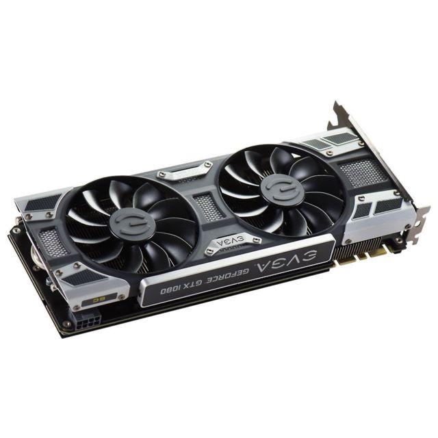 EVGA GeForce GTX 1080 SC Gaming – 8 Go GDDR5X Repoussant les limites actuelles de l'informatique, la GTX 1080 est l'arme par excellence du gamer, souhaitant profiter des dernières innovations en termes de graphismes, notamment en ce qui concerne la réalit