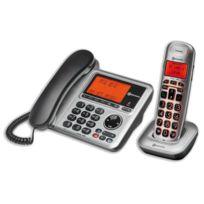 Amplicomms - Téléphone filaire et sans fil avec Répondeur, Combo BigTel 1480