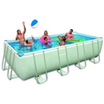 Rocambolesk - Superbe Kit piscine rectangulaire avec cadre Ultra 549x274x132cm Intex 28352GN neuf