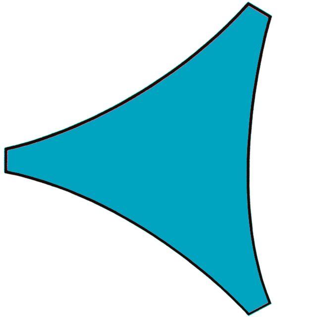 Provence Outillage Voile d'ombrage triangle bleu azur 5m x 5m