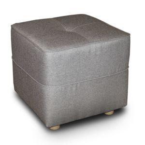 alin a vicky canap pouf en tissu gris pas cher achat vente poufs rueducommerce. Black Bedroom Furniture Sets. Home Design Ideas